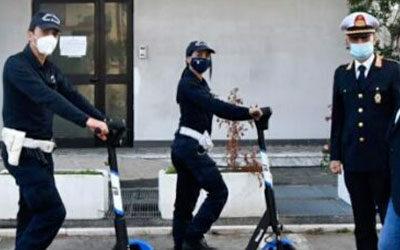 No al Monopattino Milanese in uso di Polizia